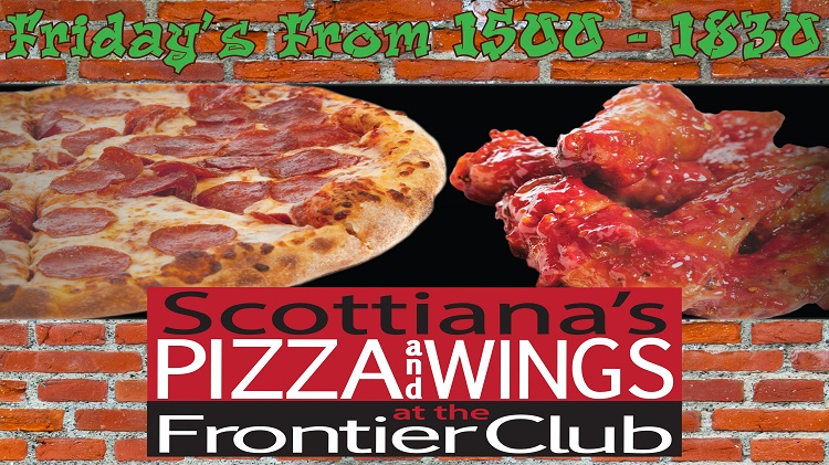 Scottiana's Pizza and Wings at the Frontier Club